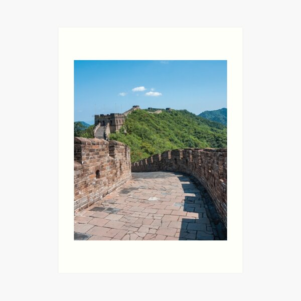 Great Wall of China Travel Photo Art Print