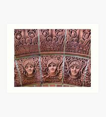 The Watts Mortuary Chapel -Brick Detail - HDR Art Print