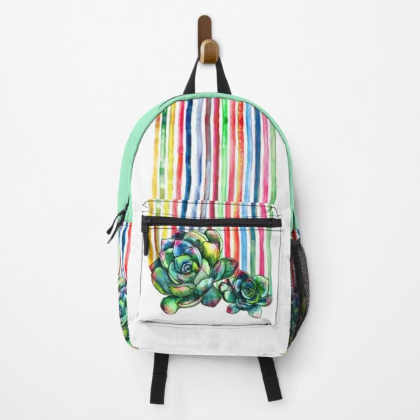 Rainbow Succulents Backpack