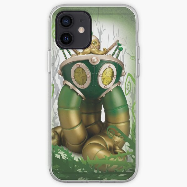 Mr Pumfrey and his Astounding Mechanised Perambulator (Spring Version) iPhone Soft Case