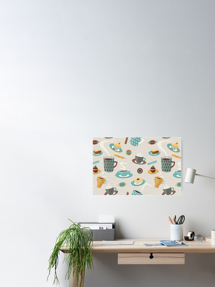 Alternate view of Morning Coffee Pattern  Poster