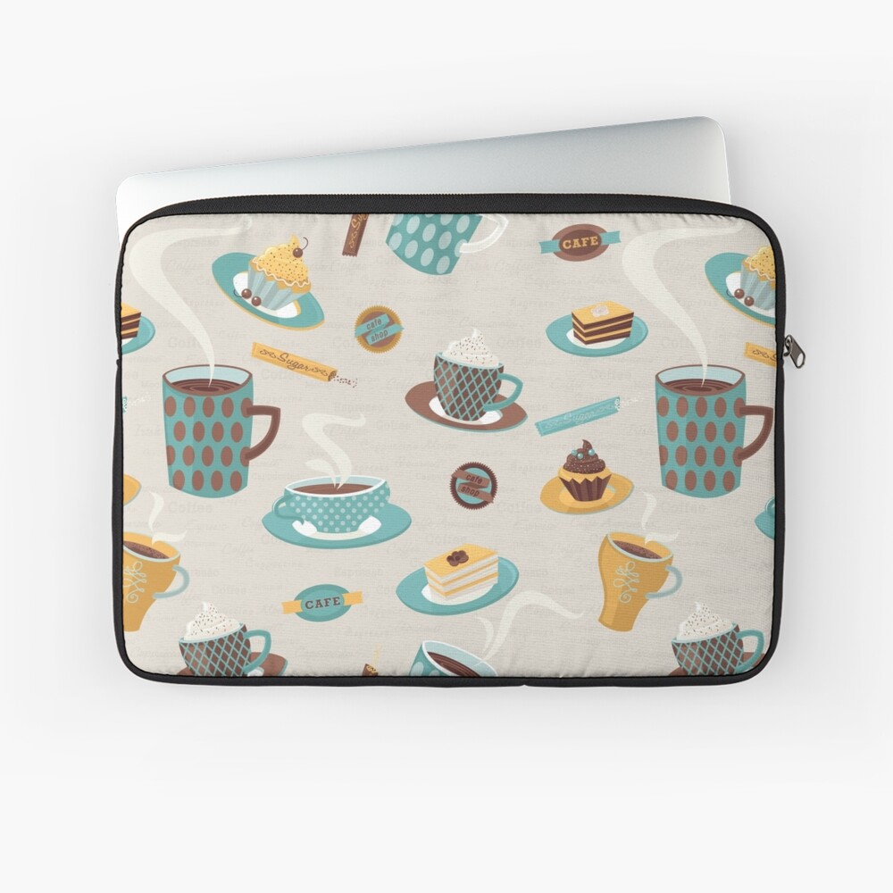 Morning Coffee Pattern  Laptop Sleeve
