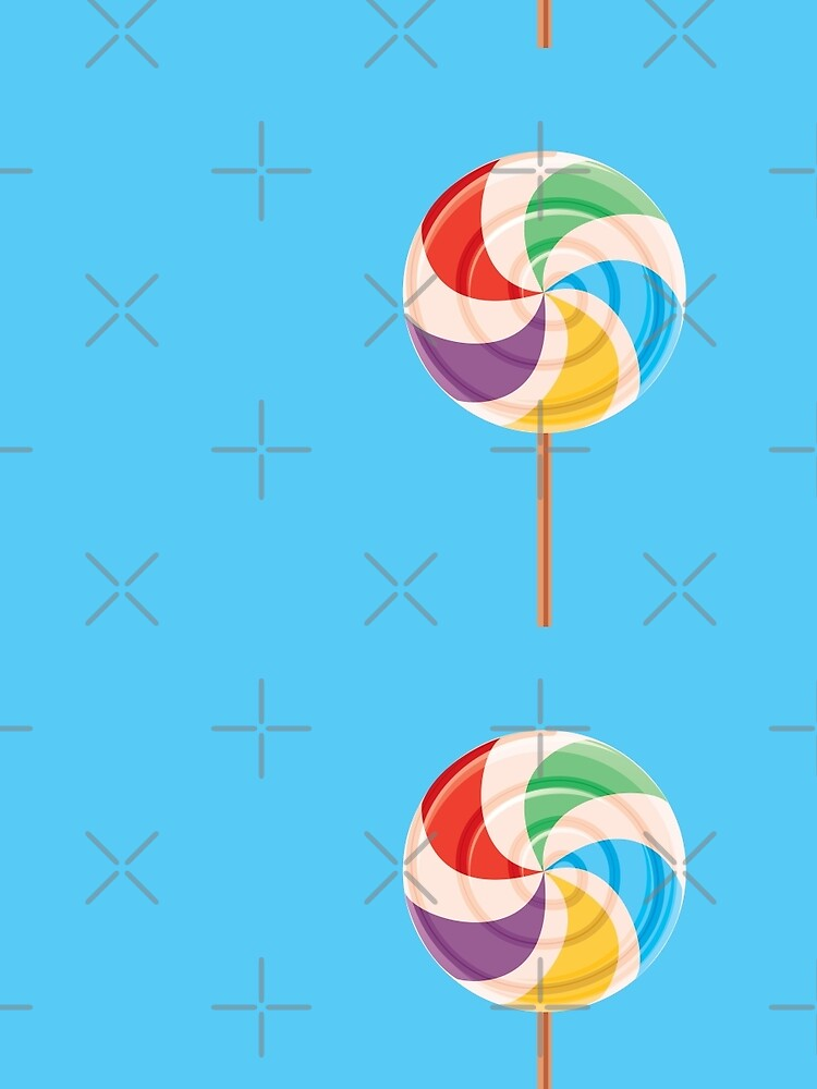 Colorful Lollypop on Blue by rusanovska