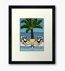 Cats on Vacation Framed Print