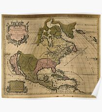 North America Map (Amerique Septentrionale) by Alexis Jaillot (1694) Poster