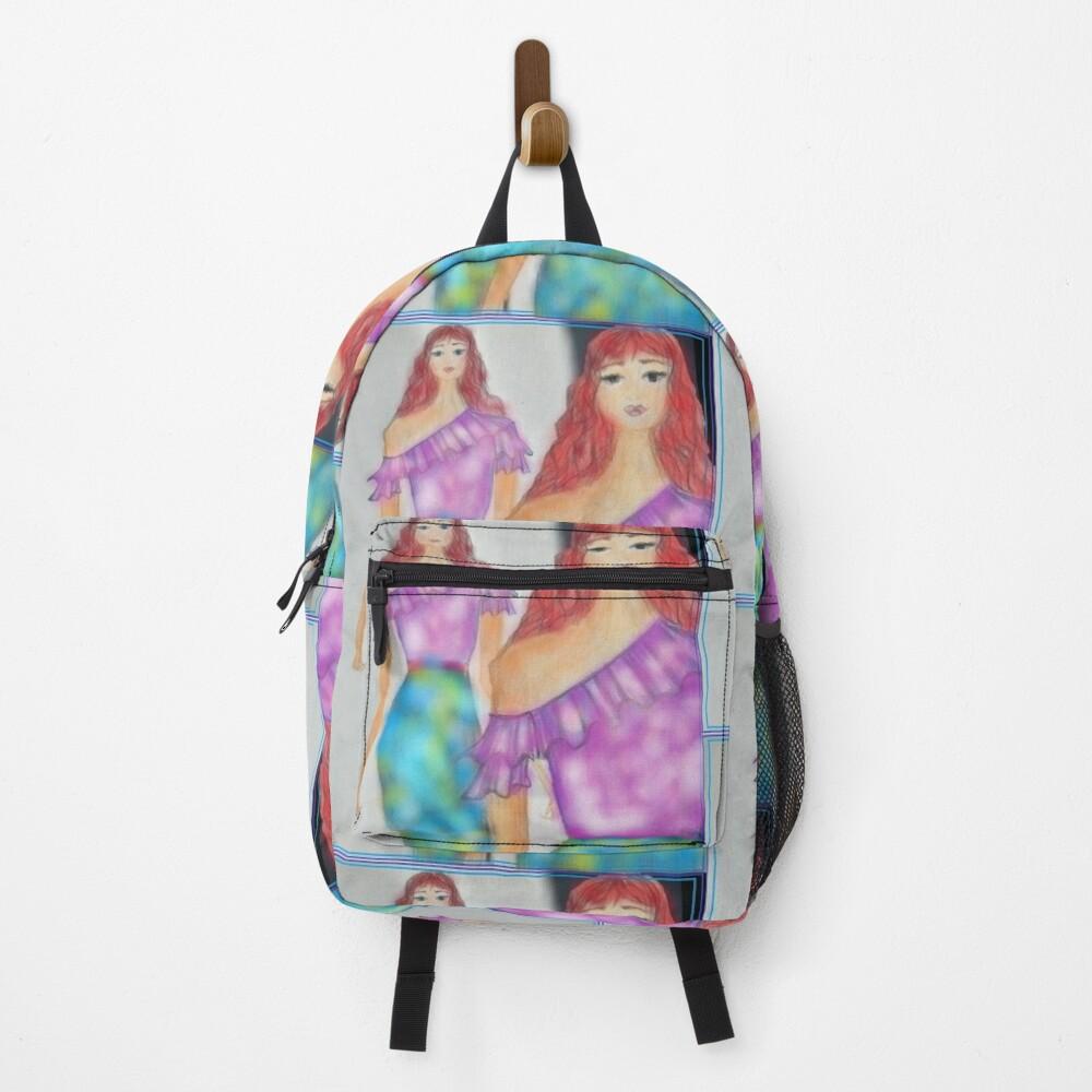 FASHION ILLUSTRATION MERMAID VIBES Backpack