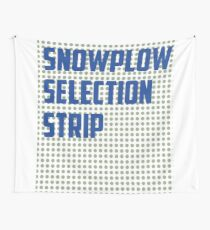 Snowplow Selection Strip Wall Tapestry