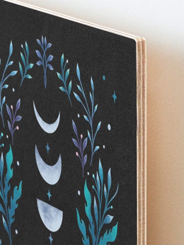 Alternate view of Moonlit Garden Mounted Print