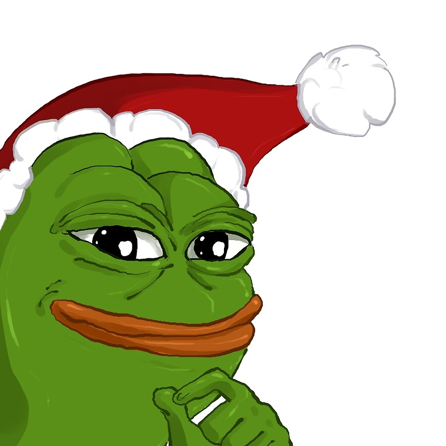 Holiday pepe art boards by spookybjorn redbubble holiday pepe publicscrutiny Images