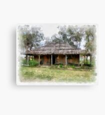 Old Pioneer Home Canvas Print