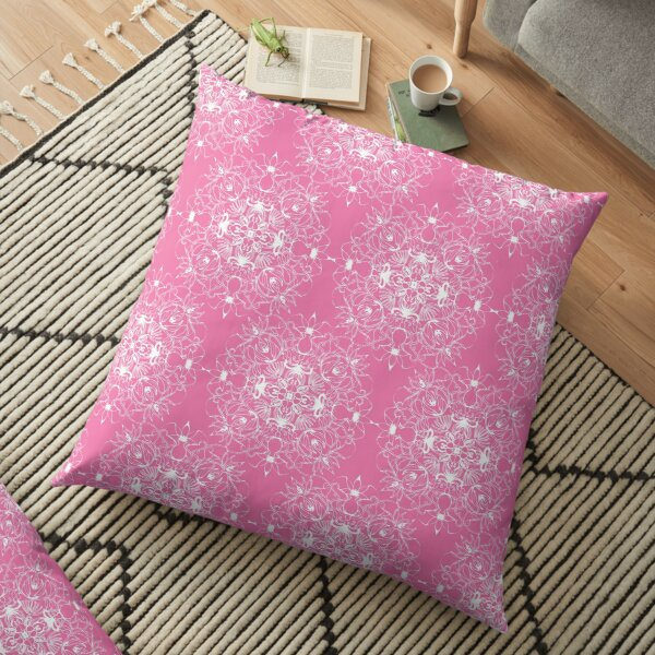 Pink Mandala pattern Floor Pillow