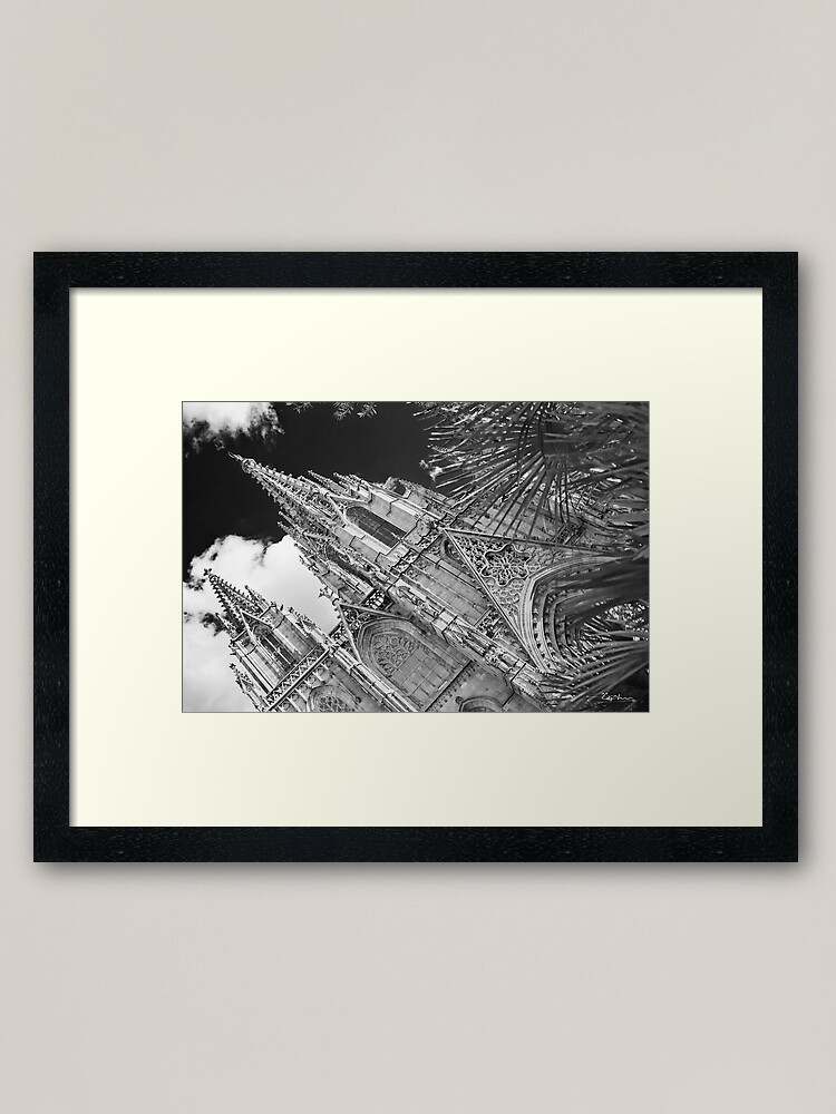 Alternate view of Barcelona Cathedral Framed Art Print