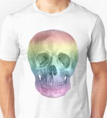 Albinus Skull 02 - Over The Rainbow - White Background T-Shirt