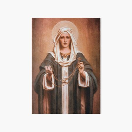 Our Lady of the Rosary Art Board Print