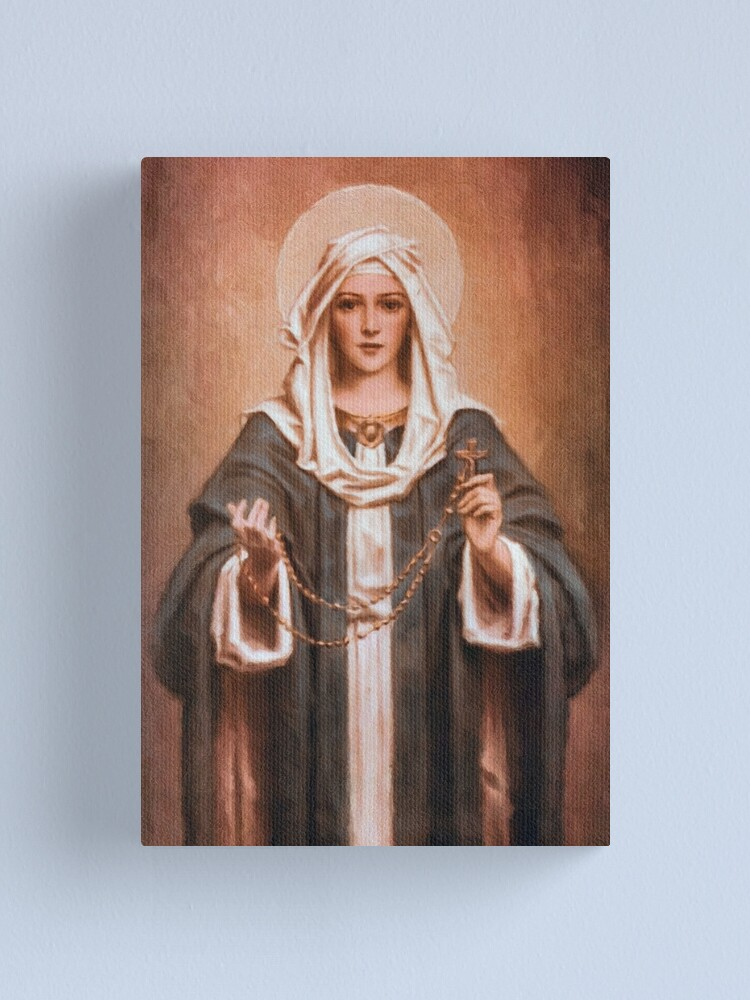 Alternate view of Our Lady of the Rosary Canvas Print