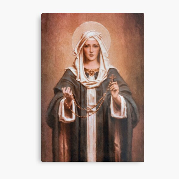 Our Lady of the Rosary Metal Print