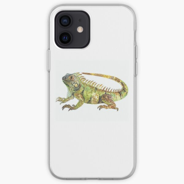 Eguana | Eguana water color | Animal iPhone Soft Case
