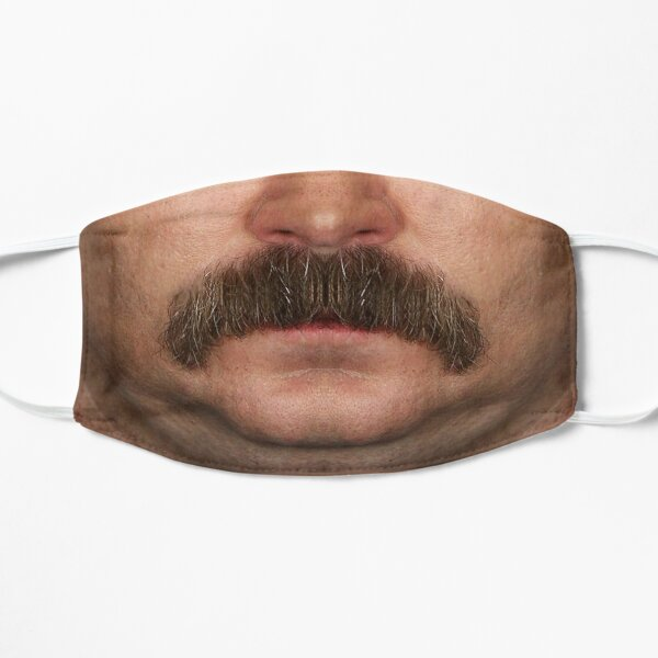 Ron Swanson face Flat Mask