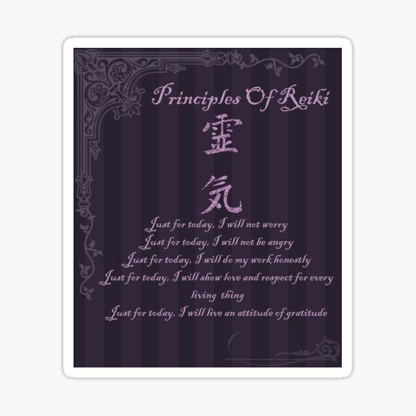 Principles Of Reiki Sticker