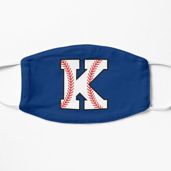 Baseball Sports Letter K - Kappa Monogram Alphabet Flat Mask