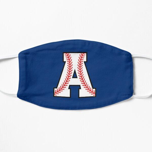 Baseball Sports Letter A - Alpha Monogram Alphabet Flat Mask