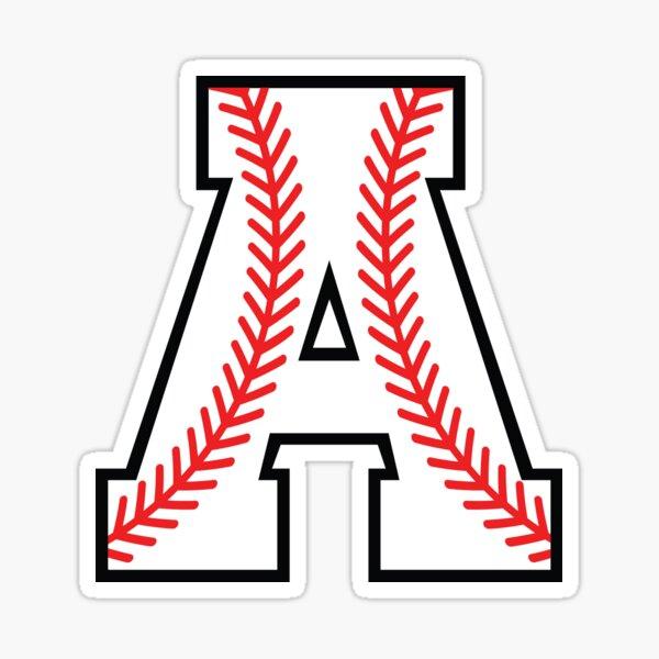 Baseball Sports Letter A - Alpha Monogram Alphabet Sticker