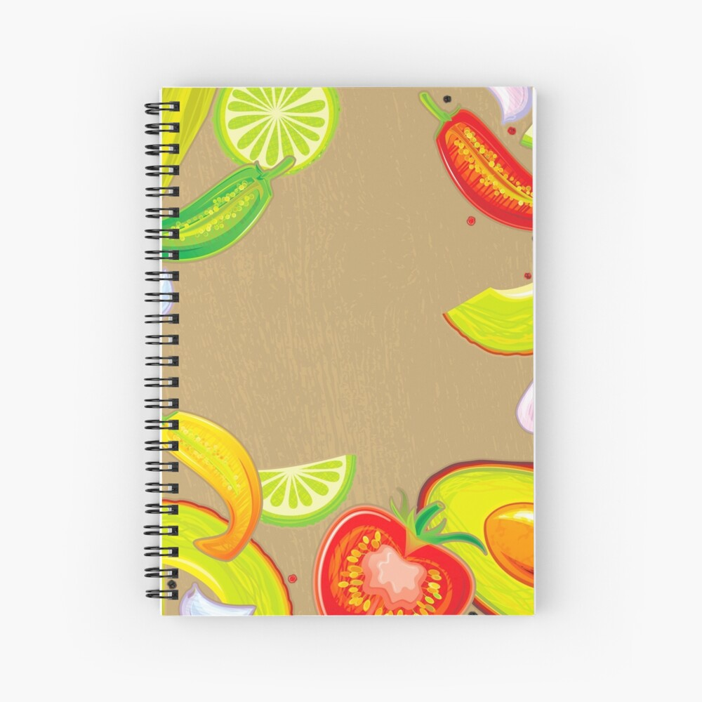 Taste of Mexico Spiral Notebook