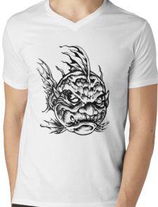 Fish Face Monster 2013 bw Mens V-Neck T-Shirt