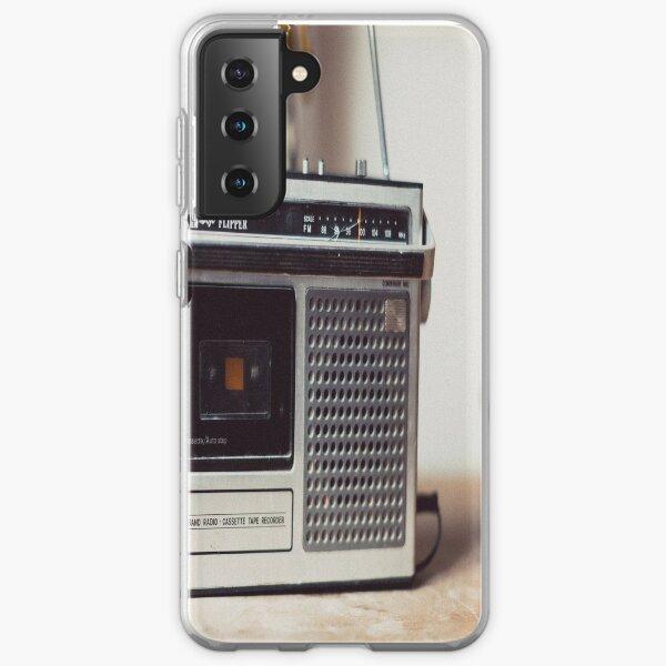 Retro Audio Tape Cassette Recorder Samsung Galaxy Soft Case