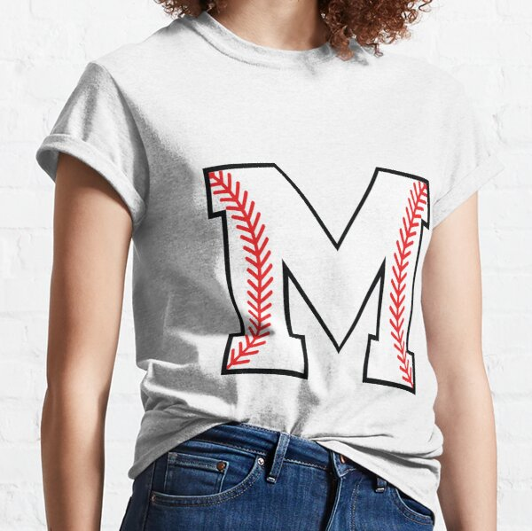 Baseball Letter M - Sports Monogram Alphabet Classic T-Shirt