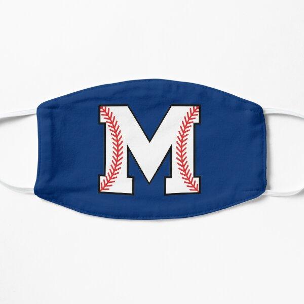Baseball Letter M - Sports Monogram Alphabet Flat Mask