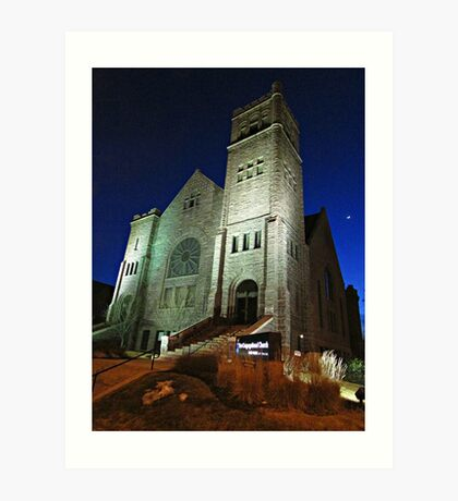 First Congregational Church Art Print