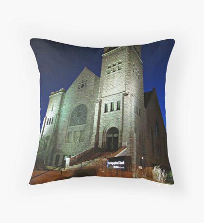 First Congregational Church Throw Pillow