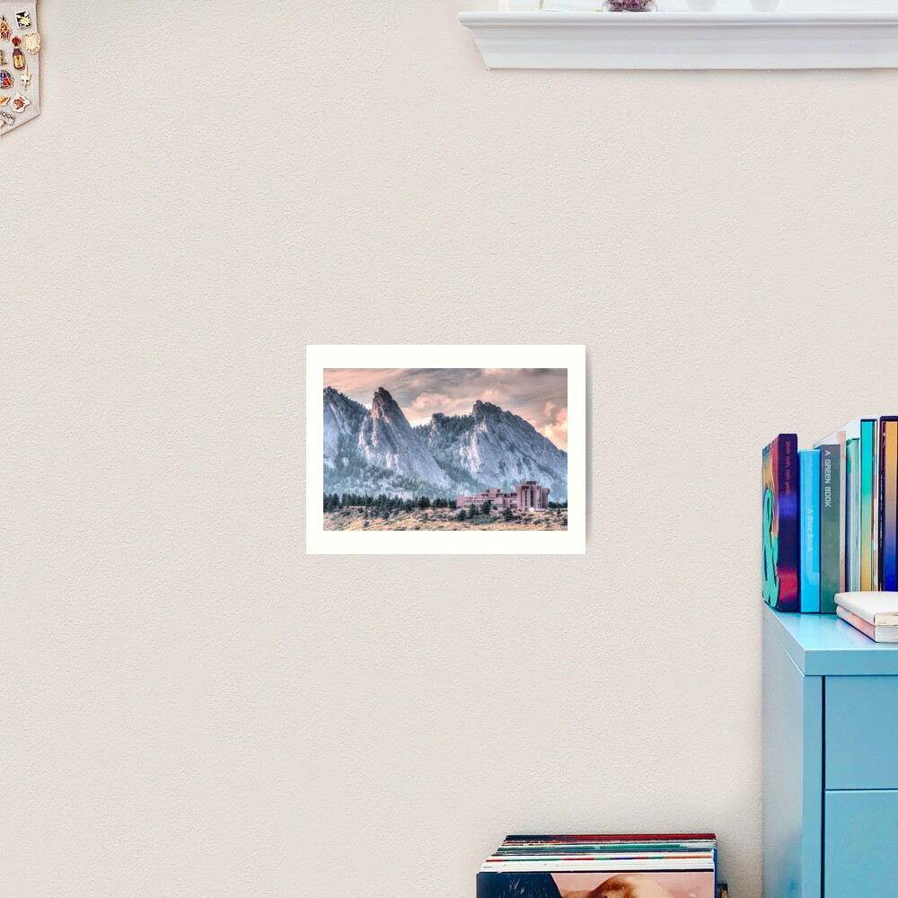 NCAR* and The Flatirons Art Print