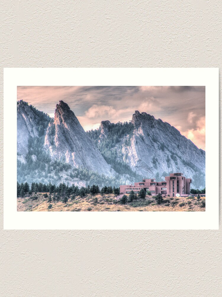 Alternate view of NCAR* and The Flatirons Art Print
