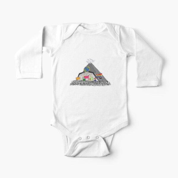 Glastonbury Festival Pyramid Stage Long Sleeve Baby One-Piece