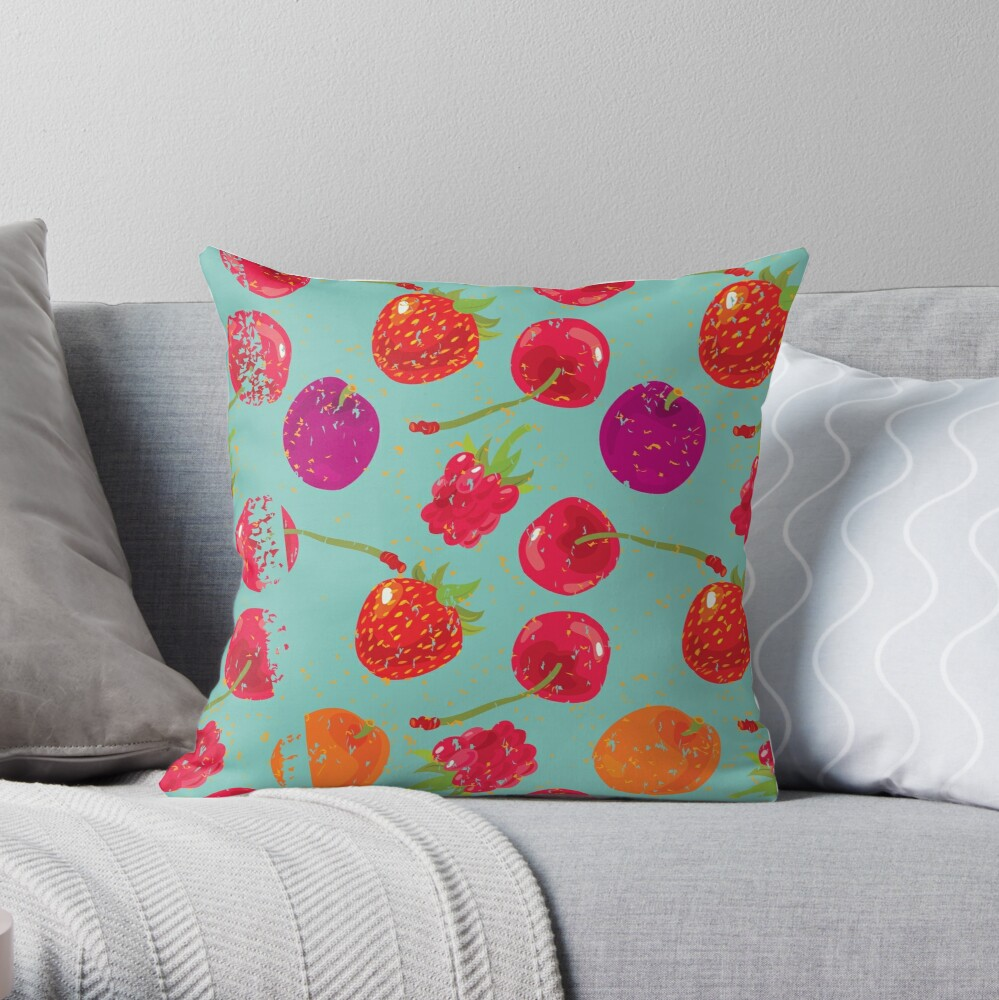 Sweet Berries Throw Pillow