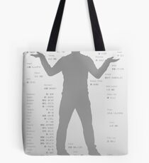 Japanese body parts cheat sheet & poster Tote Bag