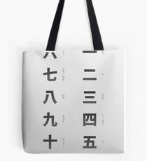 Japanese numbers cheat sheet & poster Tote Bag