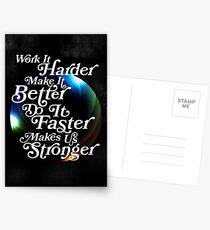 Harder, Better, Faster, Stronger Postcards