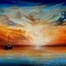 Sunset at Sea by Cherie Roe Dirksen