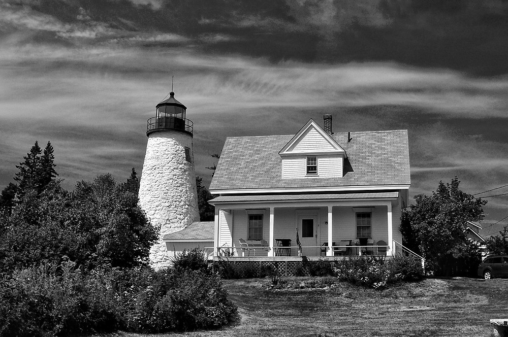 Dyce Light, Castine, Maine by fauselr