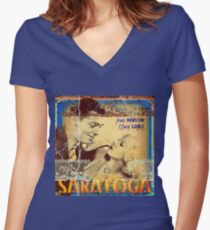 Jean in Saratoga Women's Fitted V-Neck T-Shirt