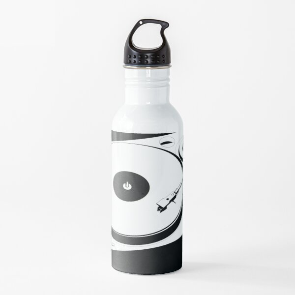 Retro Turntable Music Player Water Bottle