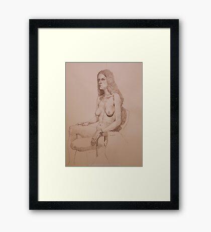 Nude Study for Niki Framed Print