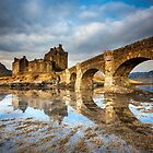 Morning Light on Eilean Donan Castle by Angie Latham