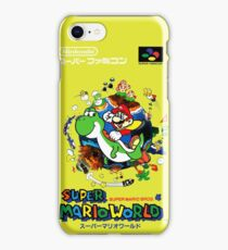 Super Mario World Nintendo Super Famicom Box Art iPhone Case/Skin