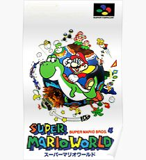 Super Mario World Nintendo Super Famicom Box Art Poster