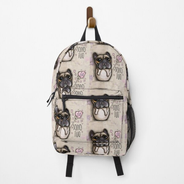 French Bulldog Zeus with italian message Backpack