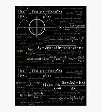Math formula Photographic Print